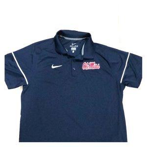 Nike ole miss men's polo shirt